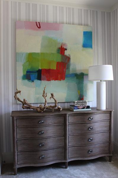 Artist: Sharon Paster Designer: Lisa Bakamis Interior Design