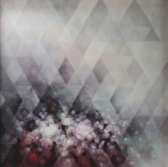 "Jenn Shifflet, ""Prism"", 60""x60"", oil on panel"