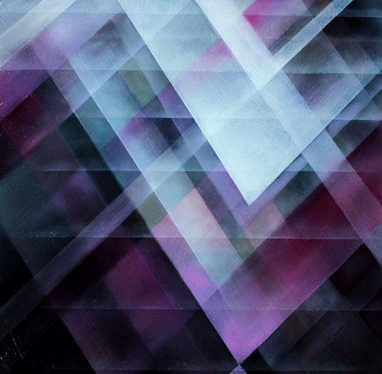 """Jenn Shifflet, """"Violet Facets"""", 12""""x12"""", oil on panel"""