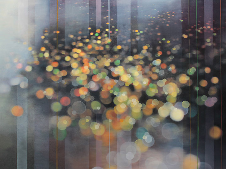 """Jenn Shifflet, """"Floating Freely"""", 36""""x48"""", oil on panel"""