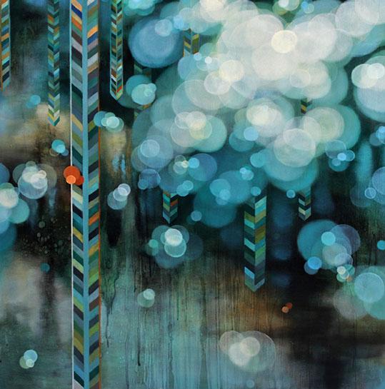 "Jenn Shifflet, ""Drifting"", 36""x36"", oil on panel"