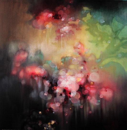 "Jenn Shifflet, ""Blooms"", 36""x36"", oil on panel"