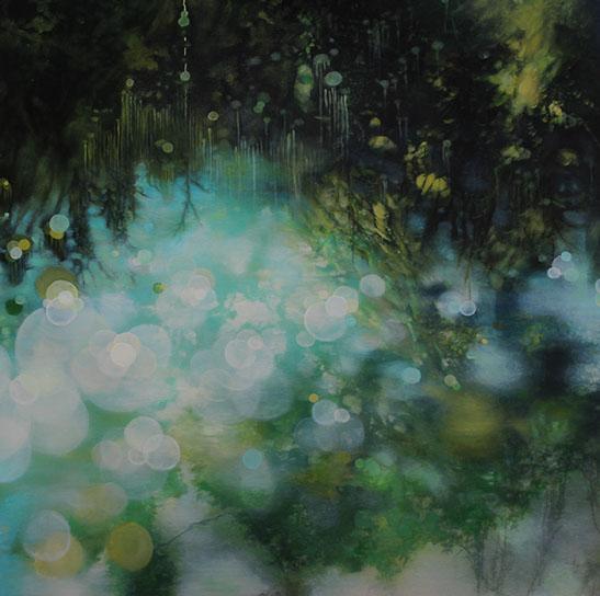 """Jenn Shifflet, """"Day Dreaming"""", 36""""x36"""", oil on panel"""