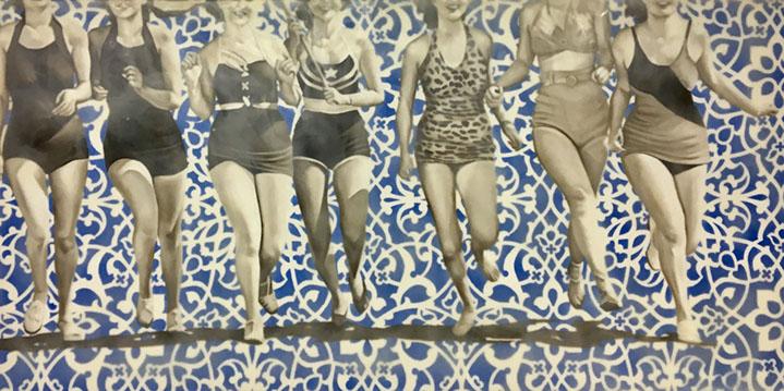 "Jhina Alvarado, ""Freedom"", 30""x60"", oil and encaustic on panel"