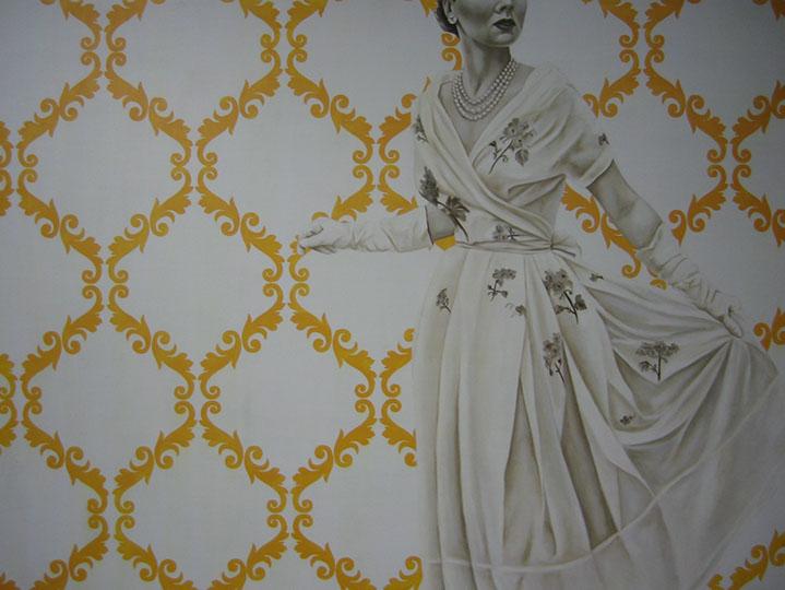 "Jhina Alvarado, ""Enchanted"", 36""x48"", oil and encaustic on panel"