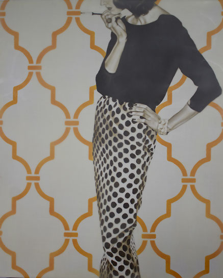 "Jhina Alvarado, ""Glamorous Life"", 24""x20"", oil and encaustic on panel"