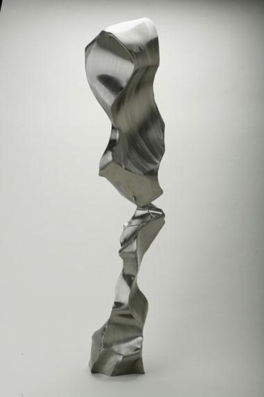 """Jon Krawczyk, """"Smoke"""", 78""""x12""""x10"""", stainless steel"""