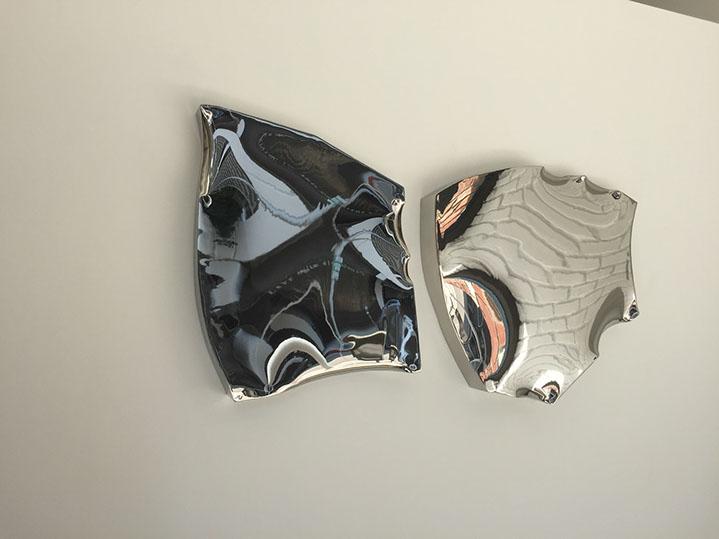 """Jon Krawczyk, """"True Image"""", 56""""x22""""x4"""", polished stainless steel"""