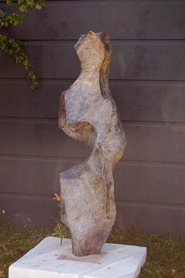 "Jon Krawczyk, ""White Bronze"", 8'x3'x3', bronze"