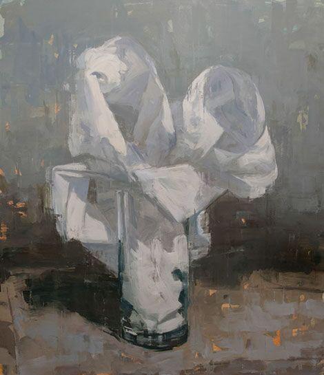 """Joseph Adolphe, """"Elegy for Hazel"""", 78""""x67"""", oil on canvas"""