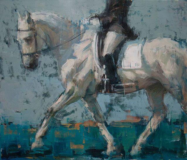 "Joseph Adolphe, ""No. 18"", 53""x62"", oil on canvas"