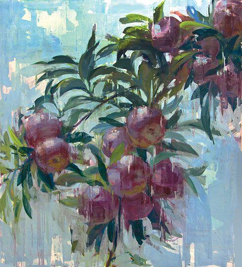 "Joseph Adolphe, ""Ripe No. 4"", 62""x58"", oil on canvas"