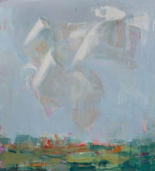 "Joseph Adolphe, A Voice No. 2"", 48""x44"", oil on canvas"