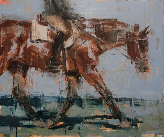 """Joseph Adolphe, """"Cooling Down No. 2"""", 44""""x48"""", oil on canvas"""
