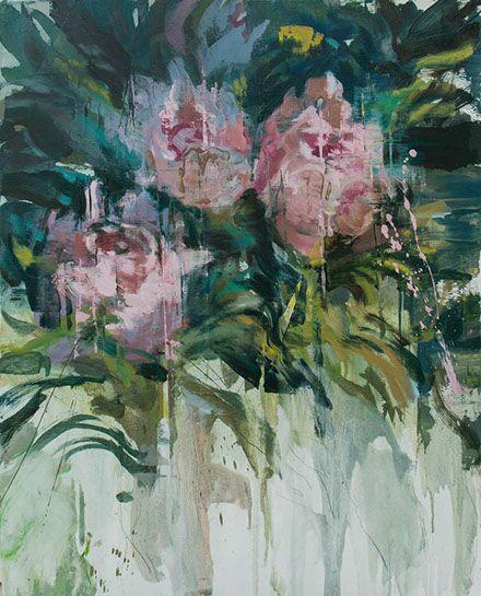 "Joseph Adolphe, ""Peony No. 1"", 36""x29"", oil on canvas"