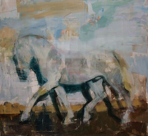 "Joseph Adolphe, ""Equus No. 12"", 44""x48"", oil on canvas"