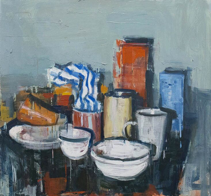 "Joseph Adolphe, ""Still Life No. 2"", 34.5""x37"", oil on canvas"