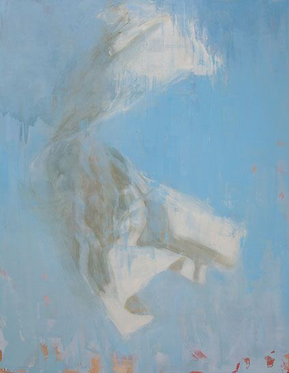 """Joseph Adolphe, """"A Longing No. 2"""", 70""""x55"""", oil on canvas"""