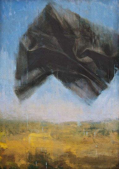 """Joseph Adolphe, """"A Warning No. 2"""", 60""""x42"""", oil on canvas"""
