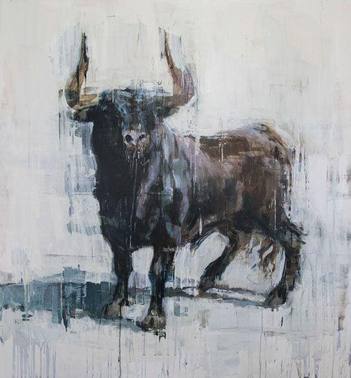 "Joseph Adolphe, ""Last Stand 2"", 75""x60"", oil on canvas"