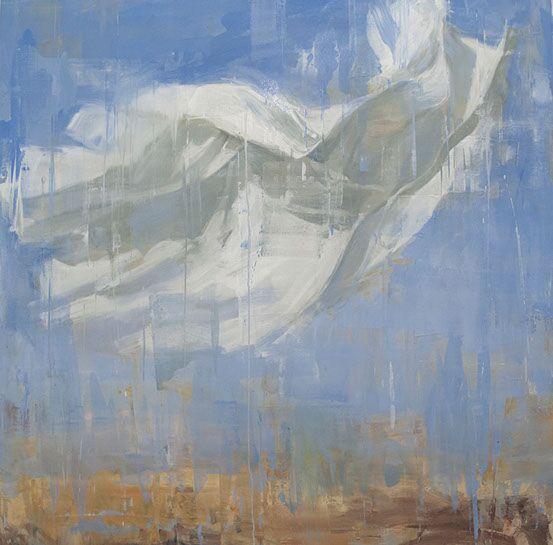 "Joseph Adolphe, ""A Wish"", 60""x60"", oil on canvas"