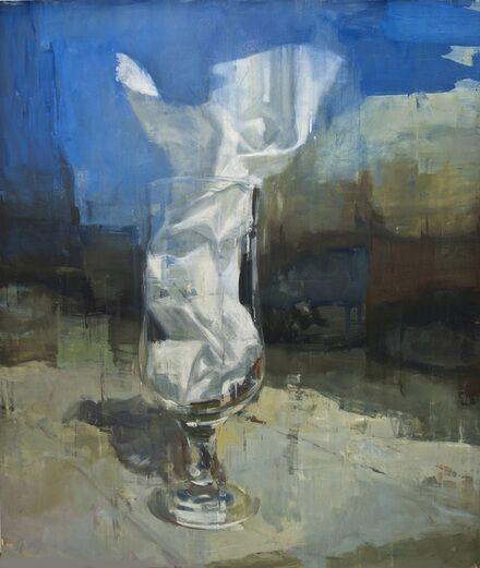 "Joseph Adolphe, ""Glass Elegy No. 1"", 80""x68"", oil on canvas"