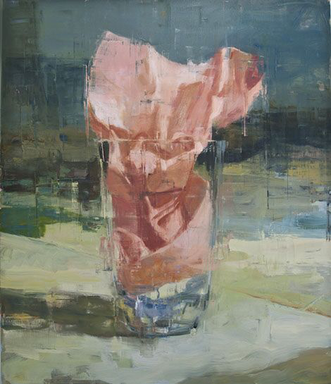 "Joseph Adolphe, ""A Shallow Elegy No. 2"", 70""x60"", oil on canvas"