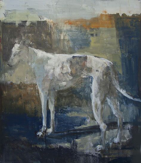 "Joseph Adolphe, ""A Riven Stray No. 1"", 58""x50"", oil on canvas"