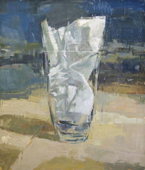 "Joseph Adolphe, ""A Shallow Elegy"", 70""x60"", oil on canvas"