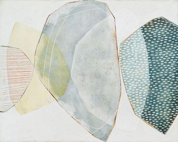 "Karine Leger, ""Pont de Glace"", 48""x60"", acrylic on canvas"