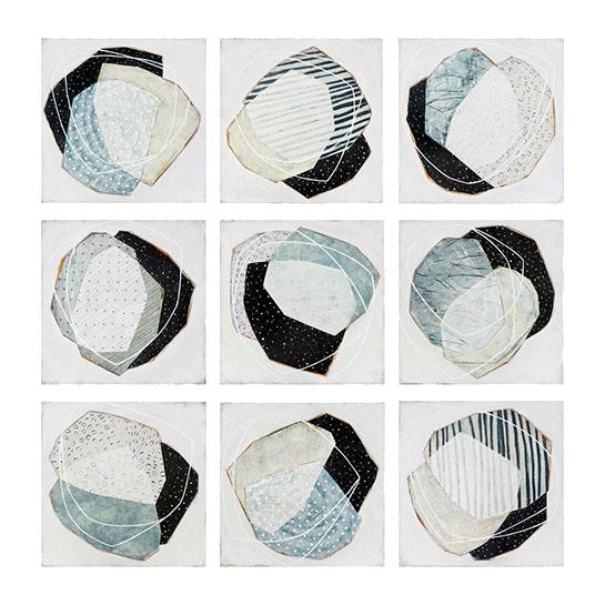 "Karine Leger, ""Winter Tales"", 10""x10"", acrylic on canvas"