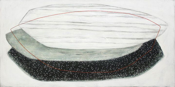 "Karine Leger, ""Bring Back the Moon II"", 36""x72"", acrylic on canvas"