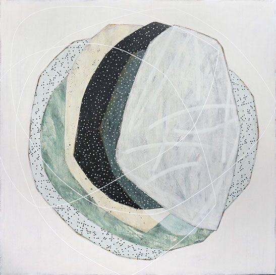 "Karine Leger, ""Keeping You Close 5"", 60""x60"", acrylic on canvas"