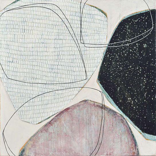 "Karine Leger, ""Stay the Night 1"", 36""x36"", acrylic on canvas"