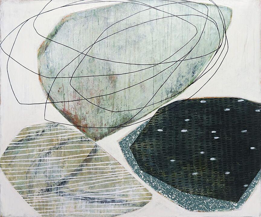 "Karine Leger, ""Humming Field"", 40""x48"", acrylic on canvas"