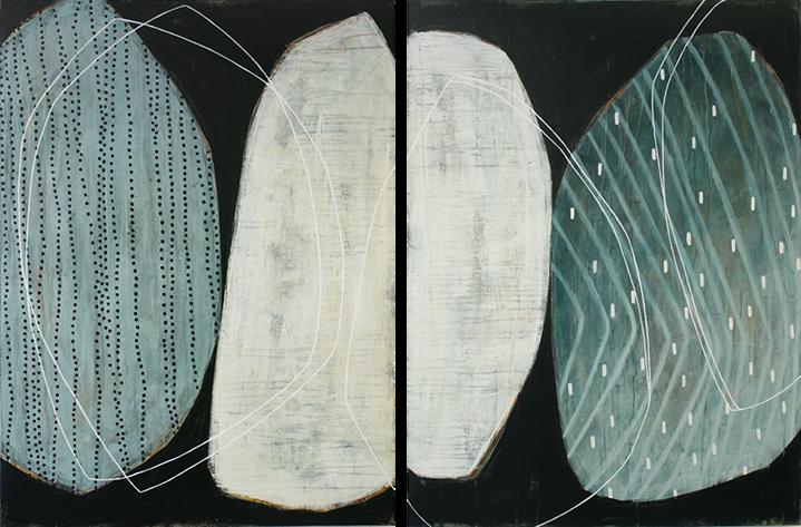 """Karine Leger, """"Mouvement des Glaces 6"""", 40""""x60"""", acrylic on canvas"""