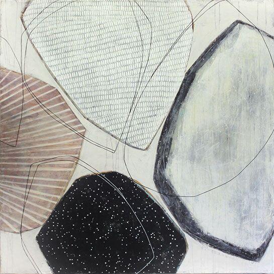 "Karine Leger, ""Stay the Night 3"", 48""x48"", acrylic on canvas"
