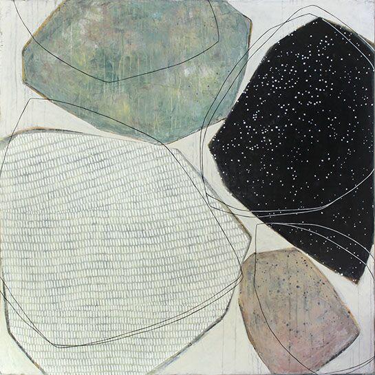 "Karine Leger, ""Stay the Night 4"", 48""x48"", acrylic on canvas"