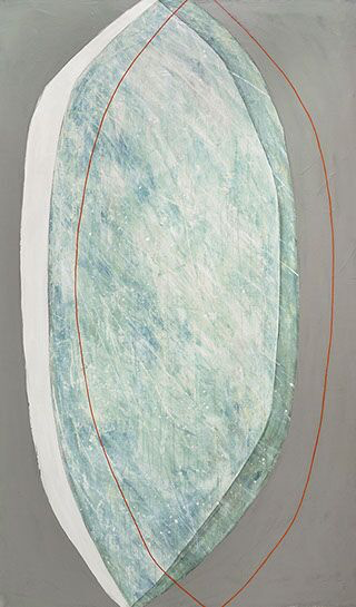 """Karine Leger, """"Hovering 21"""", 60""""x36"""", acrylic on canvas"""