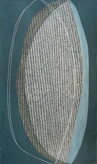 """Karine Leger, """"Hovering 18"""", 60""""x36"""", acrylic on canvas"""