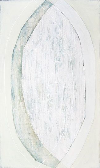 """Karine Leger, """"Hovering 20"""", 60""""x36"""", acrylic on canvas"""