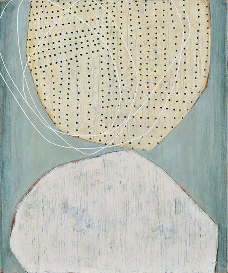 "Karine Leger, ""Dancing Sky 5"", 36""x30"", acrylic on canvas"