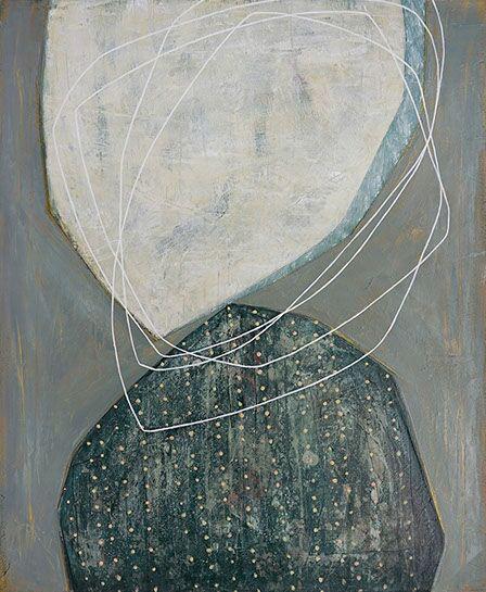 "Karine Leger, ""Dancing Sky 9"", 36""x30"", acrylic on canvas"