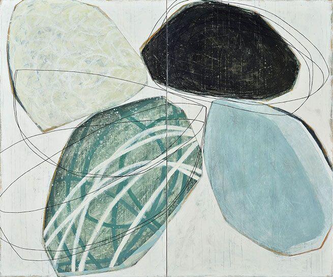 "Karine Leger, ""Wintering"", 60""x72"", acrylic on canvas"