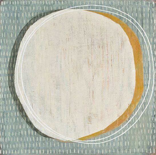 "Karine Leger, ""HelloMoon 15"", 20""x20"", acrylic on canvas"