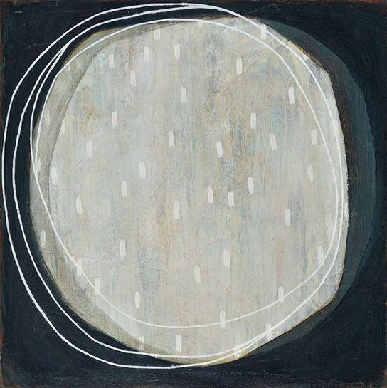 "Karine Leger, ""HelloMoon 16"", 20""x20"", acrylic on canvas"