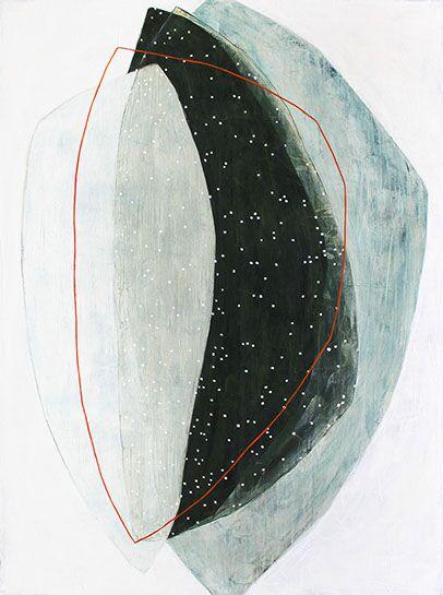 "Karine Leger, ""Bring Back the Moon"", 48""x36"", acrylic on canvas"