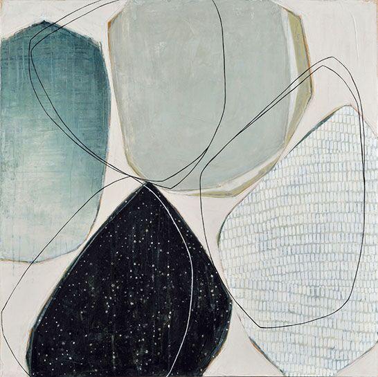 "Karine Leger, ""Stay the Night 2"", 36""x36"", acrylic on canvas"