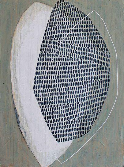 "Karine Leger, ""Traces"", 40""x30"", acrylic on canvas"