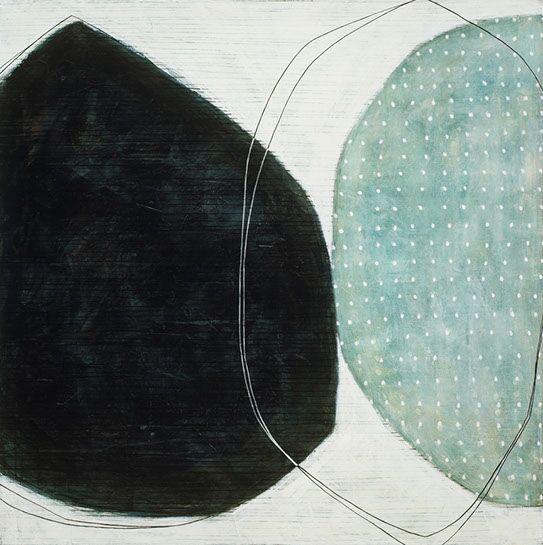 "Karine Leger, ""Winter Hours"", 48""x48"", acrylic on canvas"